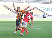 Was Hull City's Greg Docherty fouled in the area by Crew Alexandra's Owen Dale just on the stroke of half time?<br /> <br /> Photographer Dave Howarth/CameraSport<br /> <br /> The EFL Sky Bet League One - Hull City v Crewe Alexandra - Saturday 19th September 2020 - KCOM Stadium - Kingston upon Hull<br /> <br /> World Copyright © 2020 CameraSport. All rights reserved. 43 Linden Ave. Countesthorpe. Leicester. England. LE8 5PG - Tel: +44 (0) 116 277 4147 - admin@camerasport.com - www.camerasport.com