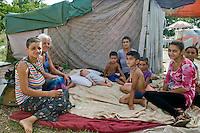 Roma - Insediamento  rom  di Val D'Ala