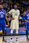 Cornelius Hudson (25) of the Wake Forest Demon Deacons during first half action against the UNC Asheville Bulldogs at the LJVM Coliseum on November 14, 2014 in Winston-Salem, North Carolina.  The Demon Deacons defeated the Bulldogs 80-69  (Brian Westerholt/Sports On Film)