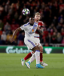 Victor Anichebe of Sunderland in action with Adam Clayton of Middlesbrough during the English Premier League match at Riverside Stadium, Middlesbrough. Picture date: April 26th, 2017. Pic credit should read: Jamie Tyerman/Sportimage