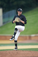 Wake Forest Demon Deacons starting pitcher Morgan McSweeney (35) in action against the Virginia Cavaliers at David F. Couch Ballpark on May 18, 2018 in  Winston-Salem, North Carolina.  The Cavaliers defeated the Demon Deacons 15-3.  (Brian Westerholt/Four Seam Images)