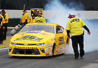 Feb 10, 2017; Pomona, CA, USA; NHRA pro stock driver Jeg Coughlin Jr during qualifying for the Winternationals at Auto Club Raceway at Pomona. Mandatory Credit: Mark J. Rebilas-USA TODAY Sports