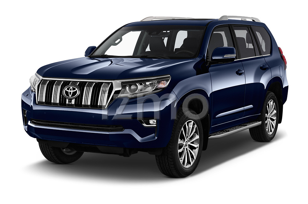 2018 Toyota Land-Cruiser-150 Lounge 5 Door SUV Angular Front stock photos of front three quarter view