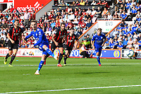 James Maddison of Leicester City scores from the penalty spot to make the score 4-1 during AFC Bournemouth vs Leicester City, Premier League Football at the Vitality Stadium on 15th September 2018