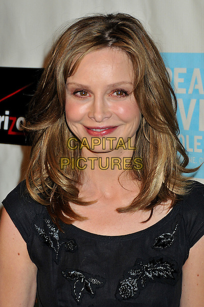 CALISTA FLOCKHART .37th Annual Peace Over Violence Humanitarian Awards at the Beverly Hills Hotel, Beverly Hills, California, USA, 07 November 2008..portrait headshot black beaded lipstick make-up smiling .CAP/ADM/BP.©Byron Purvis/Admedia/Capital PIctures