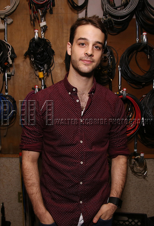 Ryan Vona during the making of the Broadway cast recording of 'Paramour' at Avatar Studios on June 29, 2016 in New York City.