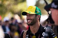 12th March 2020; Melbourne Grand Prix Circuit, Melbourne, Victoria, Australia; Formula One, Australian Grand Prix, Practice Day; Renault driver Daniel Ricciardo