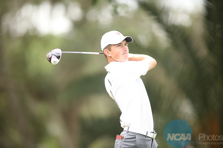 HOWEY IN THE HILLS, FL - MAY 19: Cameron Willis of Wittenberg University tees off during the Division III Men's Golf Championship held at the Mission Inn Resort and Club on May 19, 2017 in Howey In The Hills, Florida. (Photo by Cy Cyr/NCAA Photos via Getty Images)