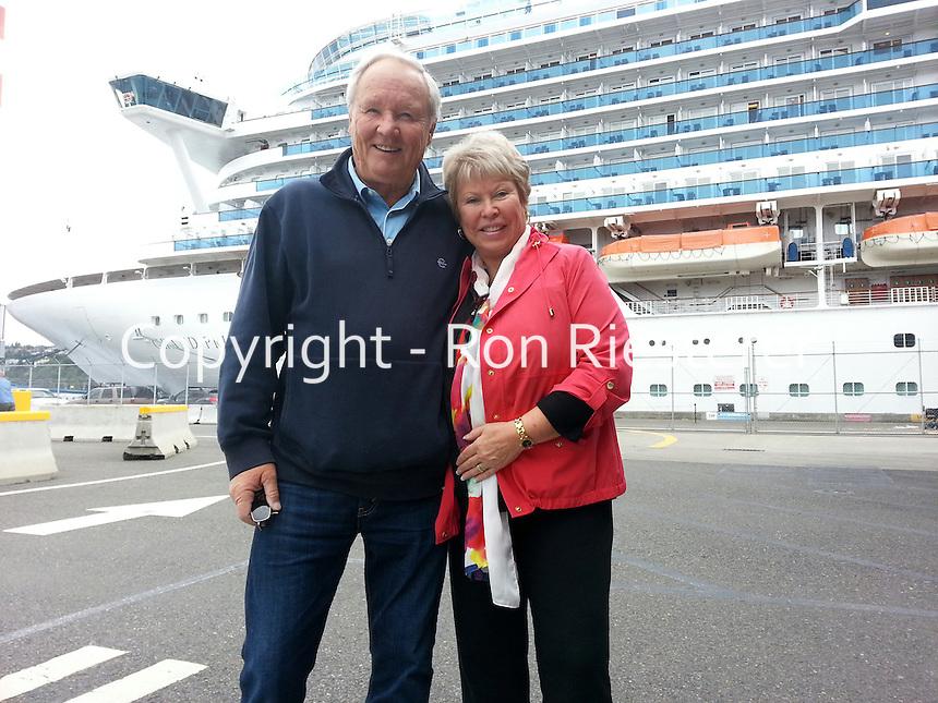 Ron & Jan on Alaska cruise 2014