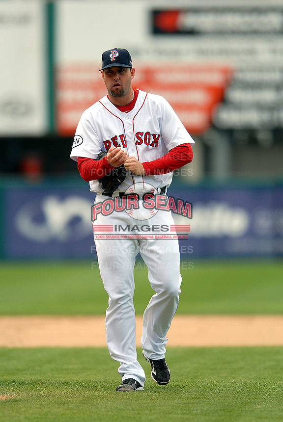 Pitcher Dan Wheeler of the Pawtucket Red Sox during a game versus the Gwinnett Braves on May 12, 2011 at McCoy Stadium in Pawtucket, Rhode Island. Photo by Ken Babbitt /Four Seam Images