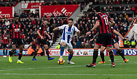 Brighton & Hove Albion's Florin Andone (center) working his way through the Bournemouth defence.<br /> <br /> Photographer David Horton/CameraSport<br /> <br /> The Premier League - Bournemouth v Brighton and Hove Albion - Saturday 22nd December 2018 - Vitality Stadium - Bournemouth<br /> <br /> World Copyright © 2018 CameraSport. All rights reserved. 43 Linden Ave. Countesthorpe. Leicester. England. LE8 5PG - Tel: +44 (0) 116 277 4147 - admin@camerasport.com - www.camerasport.com