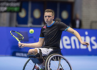 Rotterdam, Netherlands, December 15, 2016, Topsportcentrum, Lotto NK Tennis,  Wheelchair, Ruben Spaargaren (NED) <br /> Photo: Tennisimages/Henk Koster