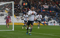 Preston North End's Paul Gallagher celebrates his and his sides second goal from the penalty spot<br /> <br /> Photographer Stephen White/CameraSport<br /> <br /> Football Pre-Season Friendly - Preston North End v Newcastle United - Saturday July 27th 2019 - Deepdale Stadium - Preston<br /> <br /> World Copyright © 2019 CameraSport. All rights reserved. 43 Linden Ave. Countesthorpe. Leicester. England. LE8 5PG - Tel: +44 (0) 116 277 4147 - admin@camerasport.com - www.camerasport.com