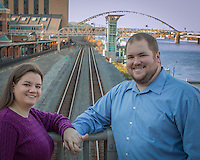 Sarah & Maurice's engagement session at Station Squarek iin Pittsburgh, PA on November 9, 2014.