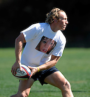 Photo: Richard Lane...England Rugby Training Camp, Portugal. 04/07/2007. ..England's Peter Richards, wearing a 'Find Madeleine' tie shirt in support of Madeleine McCann.