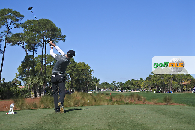 Zach Johnson (USA) on the 2nd during round 2 of the Honda Classic, PGA National, Palm Beach Gardens, West Palm Beach, Florida, USA. 26/02/2016.<br /> Picture: Golffile   Fran Caffrey<br /> <br /> <br /> All photo usage must carry mandatory copyright credit (&copy; Golffile   Fran Caffrey)