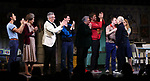 "Michael Hsu Rosen, Mercedes Ruehl, Richard Jackson, Moises Kaufman, Harvey Fierstein, Michael Urie, Ward Horton, Jack DiFalco, Roxanna Hope Radja and Richie Jackson during the Broadway Opening Night Curtain Call for ""Torch Song"" at the Hayes Theater on November 1, 2018 in New York City."