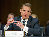 """Kevin Mandia, Chief Executive Officer, FireEye, makes his opening statement as he testifies before the US Senate Select Committee on Intelligence conducting an open hearing titled """"Disinformation: A Primer in Russian Active Measures and Influence Campaigns"""" on Capitol Hill in Washington, DC on Thursday, March 30, 2017. Photo Credit: Ron Sachs/CNP/AdMedia"""