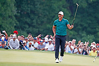 Brooks Koepka (USA) reacts on the 18th green after winning the 100th PGA Championship at Bellerive Country Club, St. Louis, Missouri, USA. 8/12/2018.<br /> Picture: Golffile.ie | Brian Spurlock<br /> <br /> All photo usage must carry mandatory copyright credit (&copy; Golffile | Brian Spurlock)