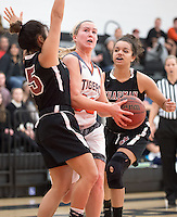 #33 Mackenzie Bretz. The Occidental College women's basketball team take on Chapman University in Rush Gym, Jan. 12, 2016.<br /> (Photo by Marc Campos, Occidental College Photographer)