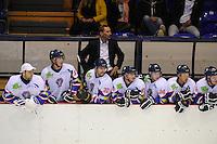 IJSHOCKEY: HEERENVEEN: Thialf IJsstadion, 22-09-2012, Oefenwedstrijd Friesland Flyers - Frankfurt Löwen, Eindstand 2-3, coach Chris Eimers, Trevor Hunt (#23), Sander Dijkstra (#5), Kevin Bruijsten (#20), Brent Janssen (#10), Kevin Nijland (#84), Michael Nason (#9), ©foto Martin de Jong