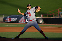 Great Lakes Loons pitcher Nolan Long (52) delivers a pitch during a Midwest League game against the Wisconsin Timber Rattlers on April 26th, 2016 at Fox Cities Stadium in Appleton, Wisconsin.  Wisconsin defeated Great Lakes 4-3. (Brad Krause/Four Seam Images)