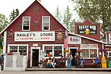 ALASKA, Talkeenta, Nagley's store and liquor store on Main street in the middle of town