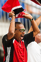 Trinidad and Tobago fans celebrate a goal during a CONCACAF Gold Cup group B match at Red Bull Arena in Harrison, NJ, on July 8, 2013.