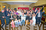 SURPRISE: What a shock Florry Mike Flahive Ardfert as his family put on a special 50th Birthday party for him in McElligotts Bar, Ardfert on Saturday night were hs family and friends attended.(8860Florry is seated centre).