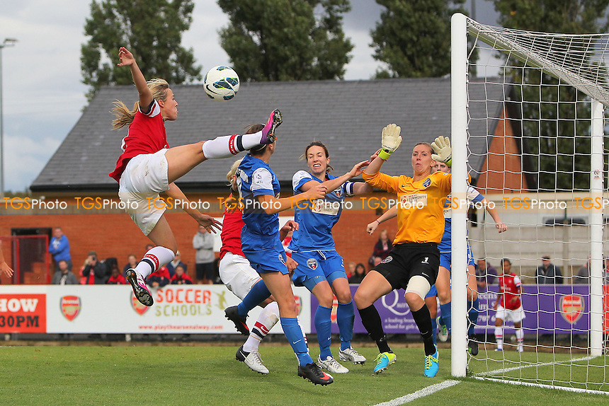 Gemma Davison goes close to a late goal for Arsenal - Arsenal Ladies vs Bristol Academy Women - FA Womens Super League Football at Boreham Wood FC - 08/09/13 - MANDATORY CREDIT: Gavin Ellis/TGSPHOTO - Self billing applies where appropriate - 0845 094 6026 - contact@tgsphoto.co.uk - NO UNPAID USE