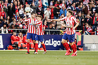 7th March 2020; Wanda Metropolitano Stadium, Madrid, Spain; La Liga Football, Atletico de Madrid versus Sevilla; Alvaro Morata (Atletico de Madrid)  celebrates his goal which made it (1,1)