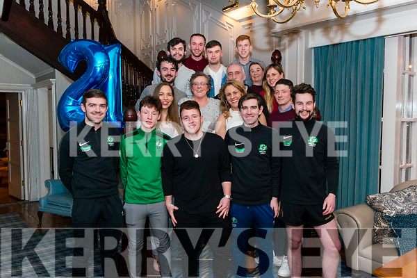 Conor McCarthy from Killarney celebrated his 21st birthday surrounded by friends and family in the Avenue Hotel, Killarney last Sunday night.