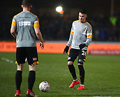 5th February 2019, Rodney Parade, Newport, Wales; FA Cup football, 4th round replay, Newport County versus Middlesbrough; Regan Poole of Newport County warms up with teammates