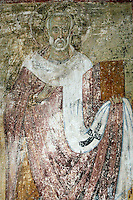 saint Nicholas,fresco,old narthex,Milesheva  Monastery of Ascension of the Lord , 1234-1235