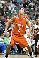 February 25, 2010:    Campbell forward Jonathan Rodriguez (3) during Atlantic Sun Conference action between the Jacksonville Dolphins and the Campbell Camels at Veterans Memorial Arena in Jacksonville, Florida.  Jacksonville defeated Campbell 65-52.