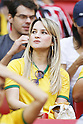 Brazil fan, JUNE 26, 2014 - Football / Soccer : FIFA World Cup Brazil<br /> match between Portugal and Ghana at the Estadio Nacional in Brasilia, Brazil. (Photo by AFLO) [3604]