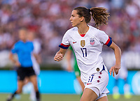PASADENA, CA - AUGUST 4: Tobin Heath #17 sprints forward during a game between Ireland and USWNT at Rose Bowl on August 3, 2019 in Pasadena, California.