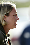 18 June 2004: Abby Wambach of the Washington Freedom before the game. The Atlanta Beat tied the New York Power 2-2 at the National Sports Center in Blaine, MN in Womens United Soccer Association soccer game featuring guest players from other teams.