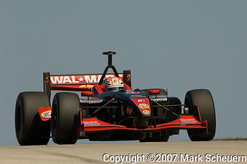 12 August 2007: Alex Tagliani (CAN) at the Champ Car Generac Grand Prix at Road America, Elkahart Lake, WI.