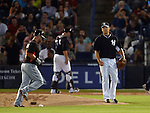 Masahiro Tanaka (Yankees),<br /> MARCH 28, 2014 - MLB :<br /> Pitcher Masahiro Tanaka of the New York Yankees watches Casey McGehee of the Miami Marlins after getting him to fly out to left in the fifth inning during a spring training baseball game at George M. Steinbrenner Field in Tampa, Florida, United States. (Photo by AFLO)