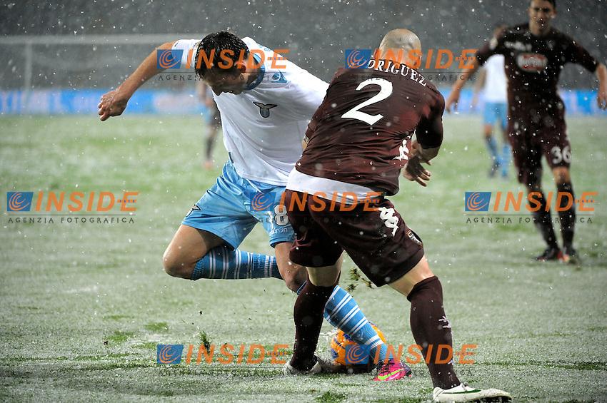 Guillermo Rodriguez Torino Libor Kozak Lazio.Torino 16/03/2013 Stadio Olimpico Torino.Football Calcio Serie A  2012/13.Torino vs Lazio.Foto Insidefoto Federico Tardito