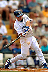 19 March 2006: Bill Mueller, infielder for the Los Angeles Dodgers, at bat during a Spring Training game against the Washington Nationals at Holeman Stadium, in Vero Beach, Florida. The Dodgers defeated the Nationals 9-1 in Grapefruit League play...Mandatory Photo Credit: Ed Wolfstein Photo..