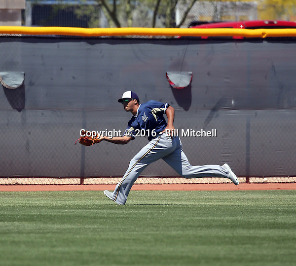 Trent Clark - Milwaukee Brewers 2016 extended spring training (Bill Mitchell)