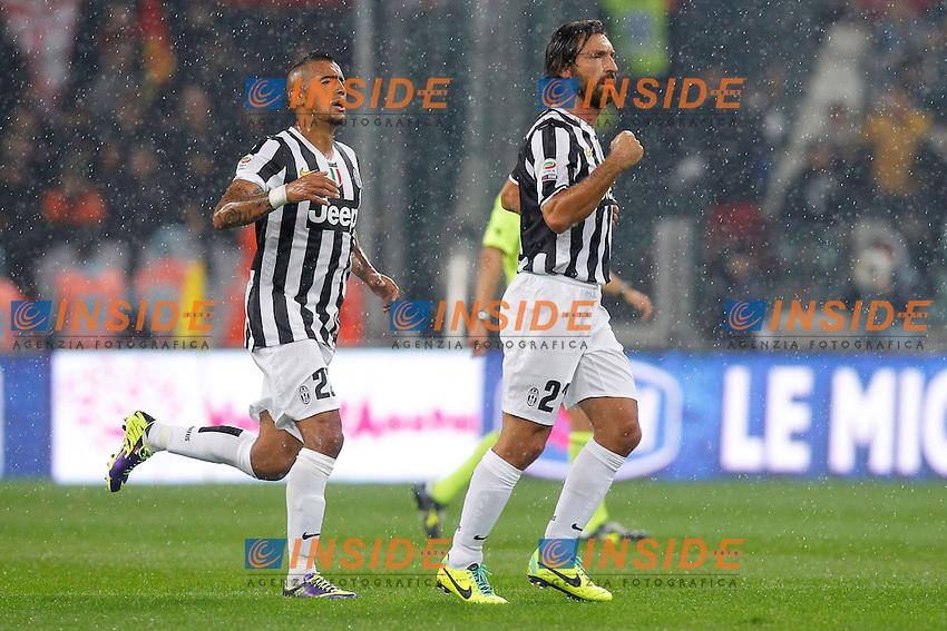 Esultanza dopo il gol Andrea Pirlo Juventus, Goal Celebration<br /> Torino 06-10-2013<br /> Juventus Stadium <br /> Football Calcio 2013/2014 Serie A <br /> Juventus - Milan<br /> Foto Marco Bertorello Insidefoto