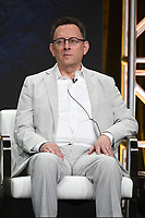 """BEVERLY HILLS - AUGUST 1: Michael Emerson onstage during the """"Evil"""" panel at the CBS portion of the Summer 2019 TCA Press Tour at the Beverly Hilton on August 1, 2019 in Los Angeles, California. (Photo by Frank Micelotta/PictureGroup)"""