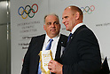 (L to R) <br /> Nenad Laldvic, <br /> Alexander Karelin, <br /> SEPTEMBER 8, 2013 : <br /> The Press conference of Wrestling during the 125th International Olympic Committee (IOC) session in Buenos Aires Argentina, on Saturday September 8, 2013. <br /> (Photo by YUTAKA/AFLO SPORT)