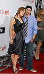 "HOLLYWOOD, CA. - September 15: Actor Jason Biggs and Jenny Mollen arrive at the world premiere of ""My Best Friend's Girl"" at The Arclight Hollywood on September 15, 2008 in Hollywood, California."
