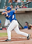 Fort Worth Cats Center Fielder Ryan Patterson (23) in action during the American Association of Independant Professional Baseball game between the Grand Prairie AirHogs and the Fort Worth Cats at the historic LaGrave Baseball Field in Fort Worth, Tx. Fort Worth defeats Grand Prairie 8 to 7...