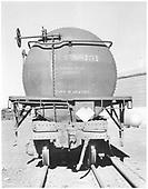 End view of tank car UTLX 88131 at Alamosa.<br /> D&amp;RGW  Alamosa, CO  Taken by Richardson, Robert W. - 4/20/1952
