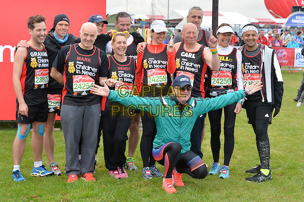 LONDON, ENGLAND - APRIL 24   Chris Evans at the start of the 2016 Virgin Money London Marathon on Blackheath in London, England. 24th April 2016.<br /> CAP/JWP<br /> &copy;JWP/Capital Pictures